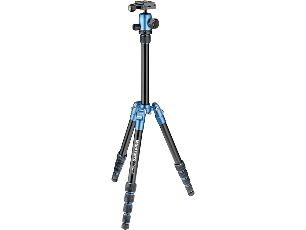 Manfrotto MKELES5BL-BH Small Element Traveler Tripod with Ball Head (Blue)