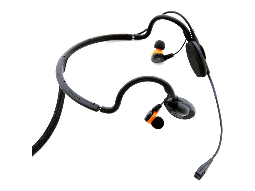 Point Source Audio CM-I5-5MS Dual In-Ear Intercom Headset with 5-Pin Male XLR for Stereo RTS Systems