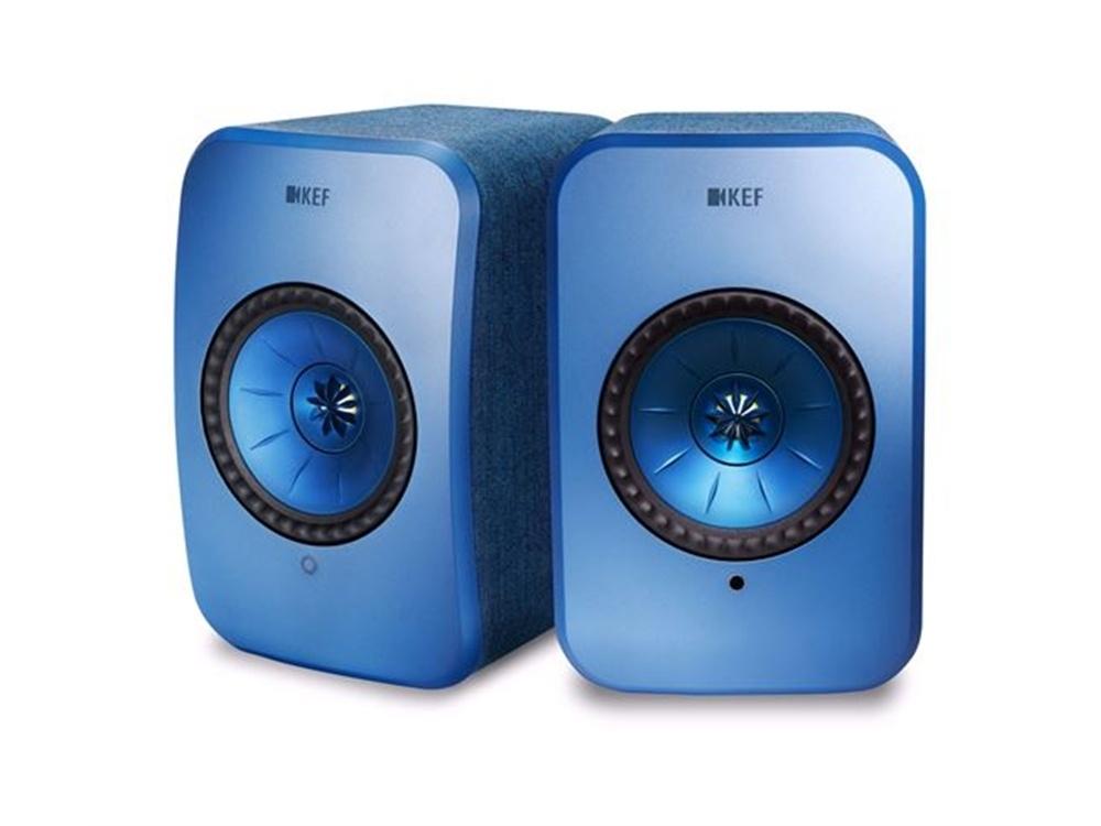 KEF LSX Wireless Mini Monitor Speakers (Blue)