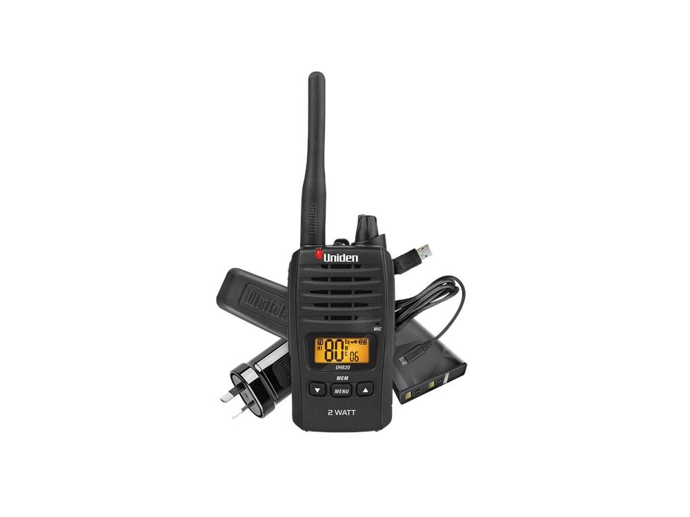 Uniden UH820 80 Channel 2 Watt UHF Handheld Radio