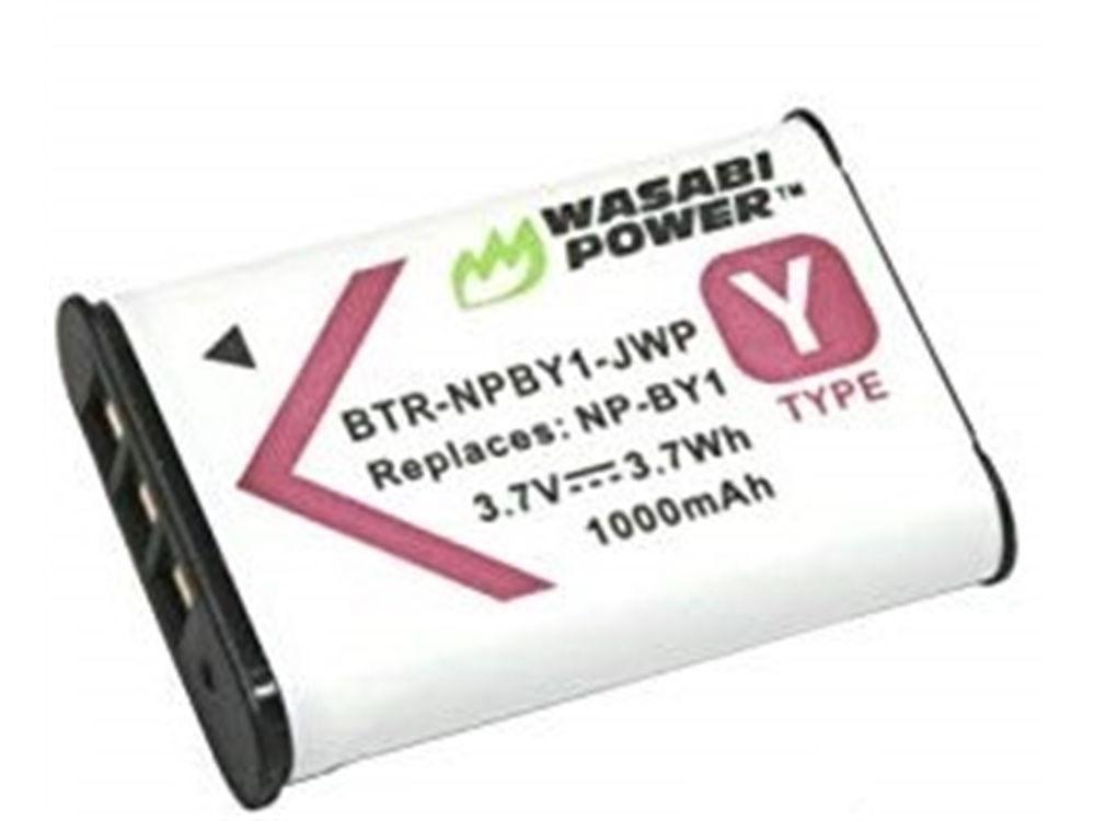 Wasabi Power Battery For Sony NP-BY1 and Sony HDR-AZ1 Action Camera Mini