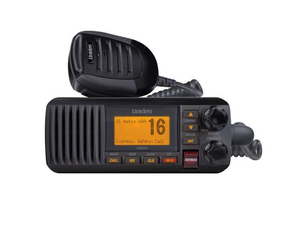 Uniden UM385 Waterproof DSC Marine Radio (Black)