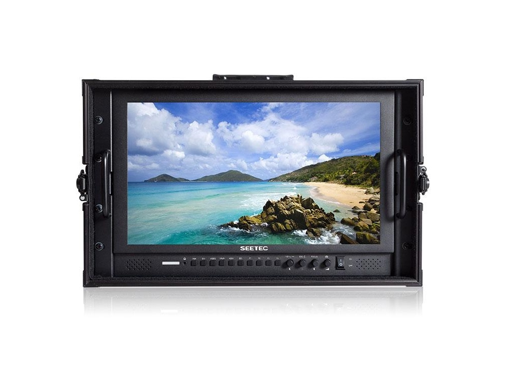 """Feelworld 17.3"""" Carry-On Broadcast Director Monitor in Flight-Case/4K"""
