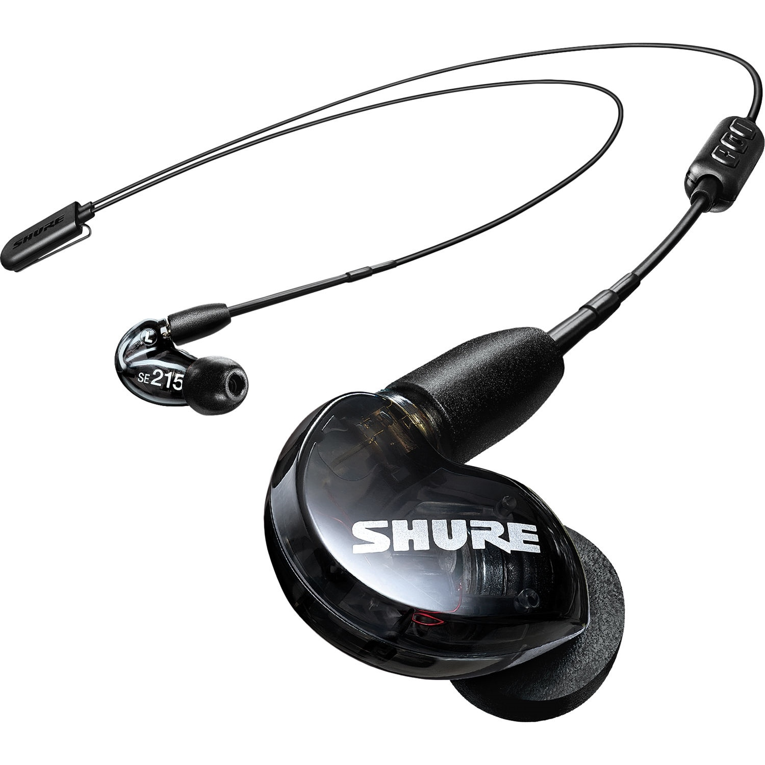 Shure SE215 Sound-Isolating Earphones with RMCE-BT2 Bluetooth Cable (Black)