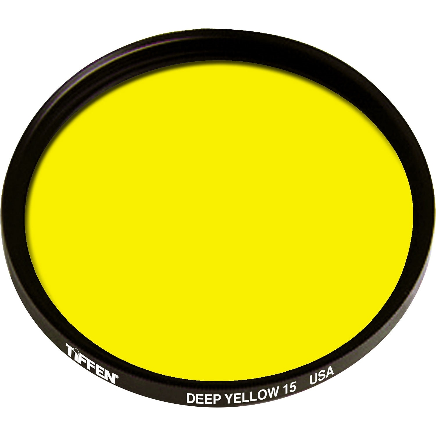 Tiffen 46mm Deep Yellow 15 Glass Filter for Black & White Film
