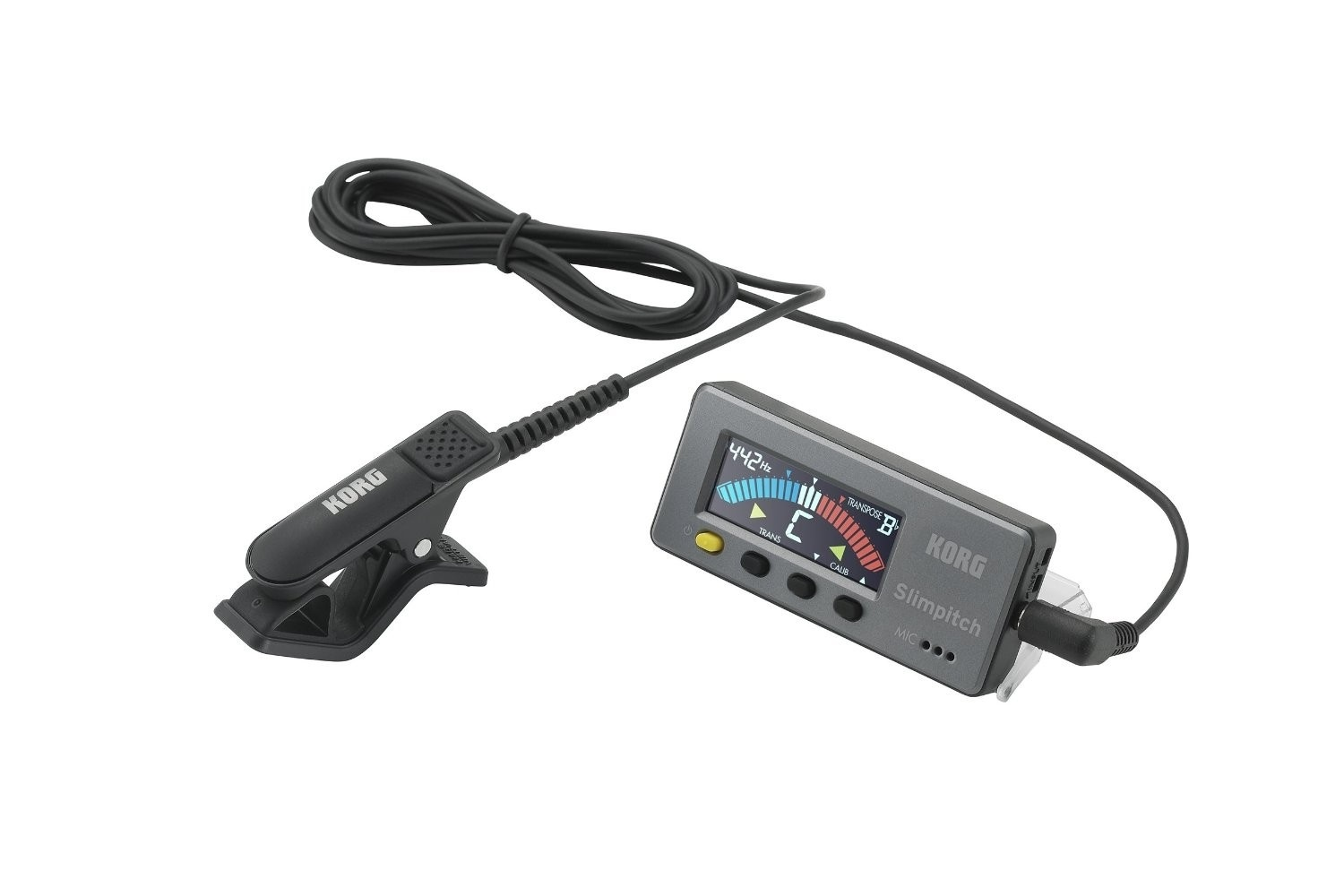 Korg Slimpitch Chromatic Tuner with Contact Mic (Black)