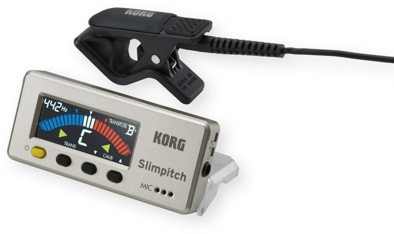 Korg Slimpitch Chromatic Tuner with Contact Mic (Pearl Gold)