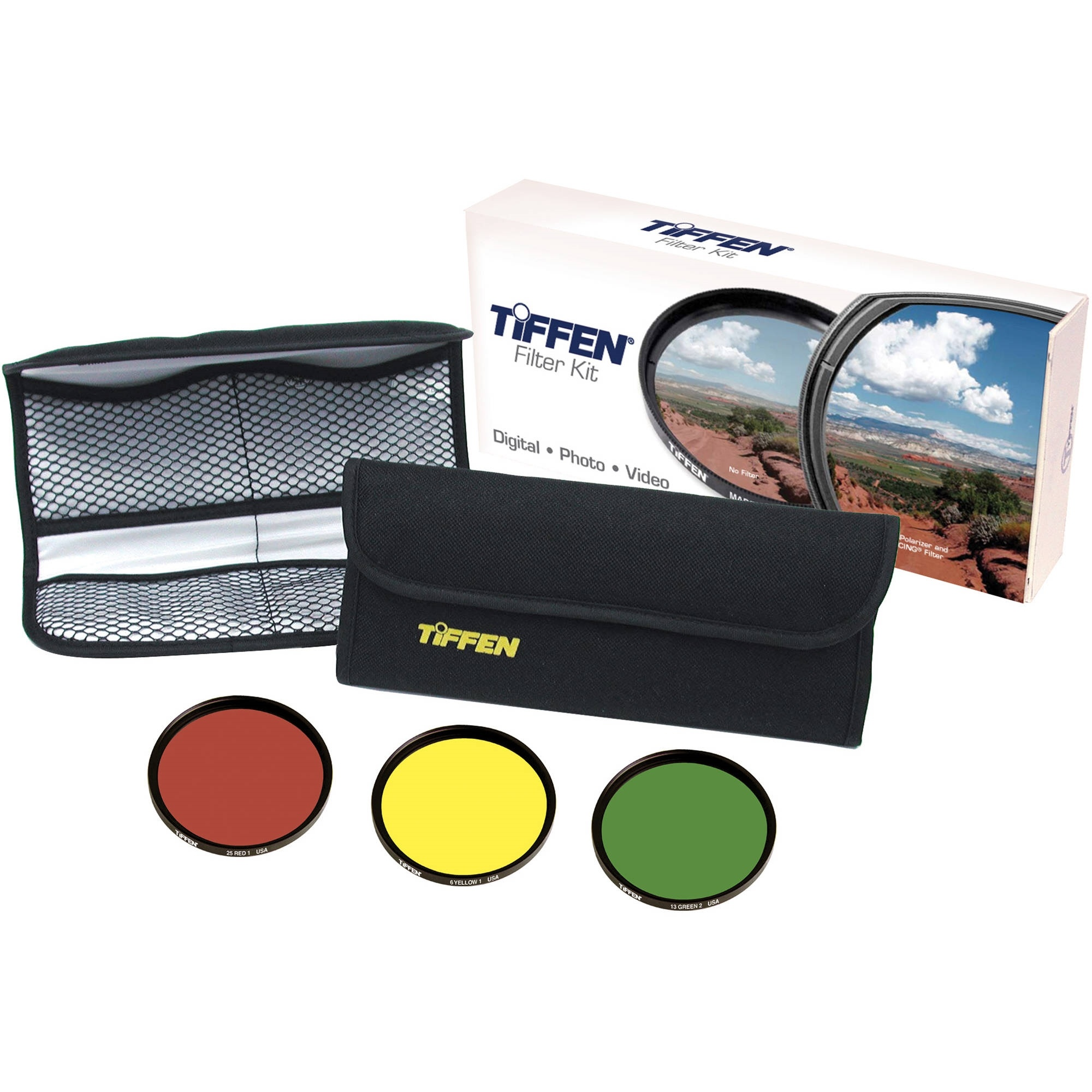 Tiffen 55mm Black & White Three Filter Kit