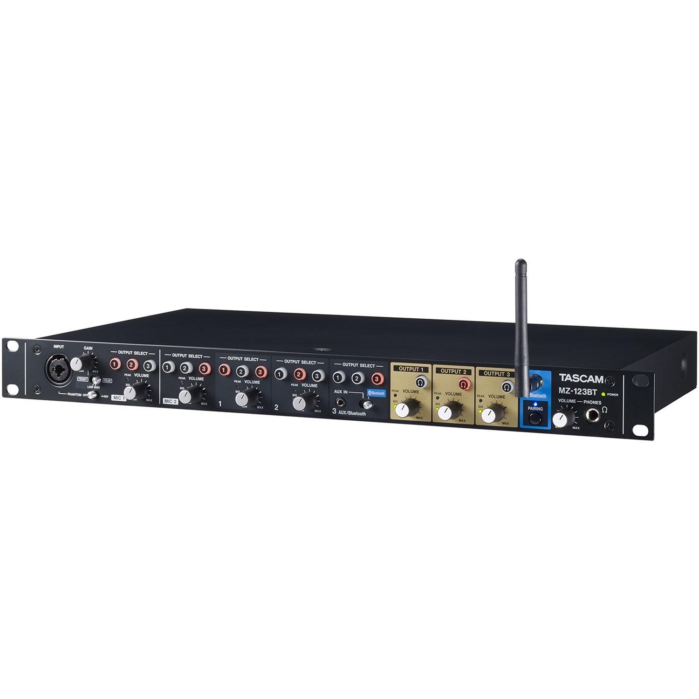 Tascam MZ-123BT Multi-Zone Audio Mixer with Bluetooth
