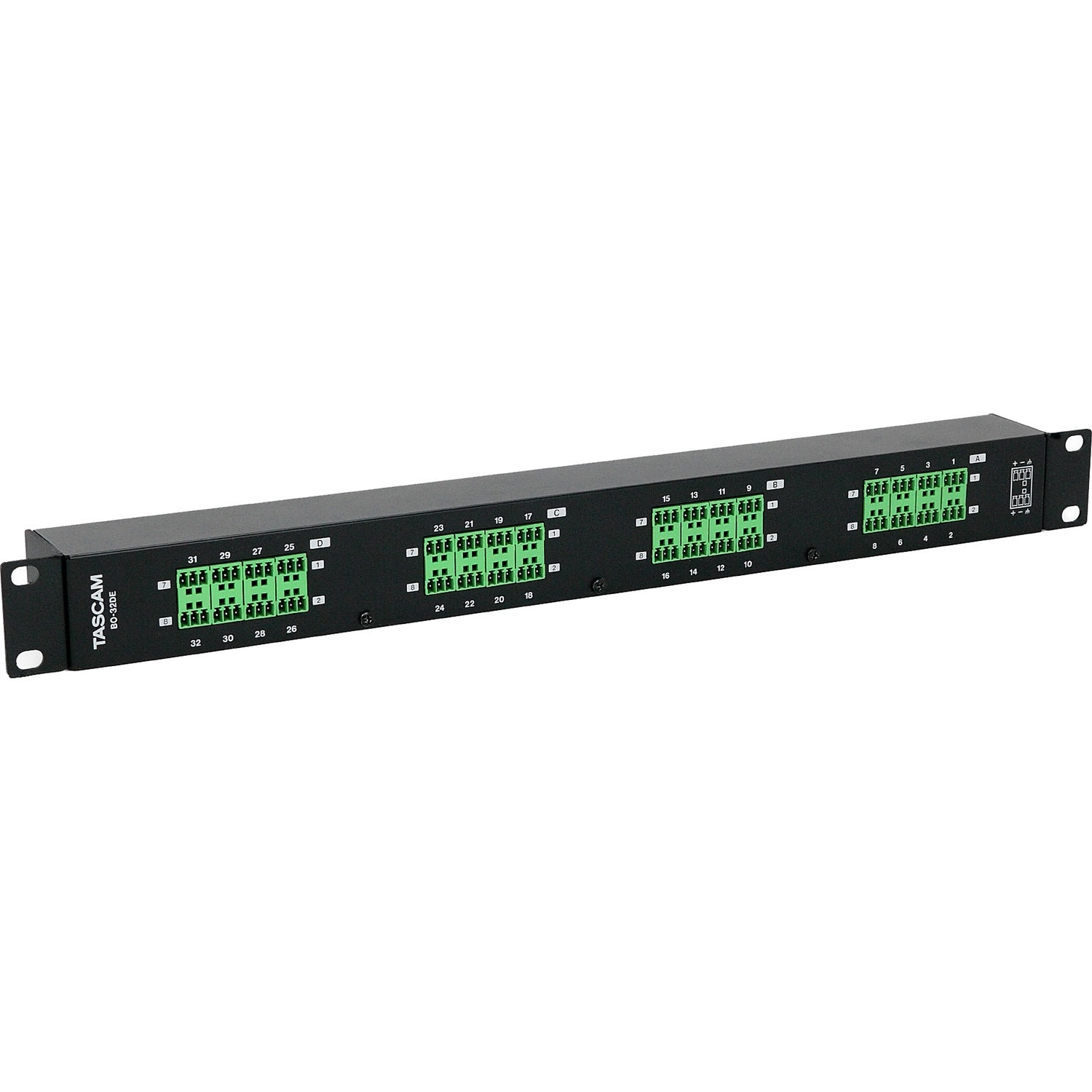 Tascam BO-32DE Rackmount 32-Channel DB25 to Euroblock I/O Adapter