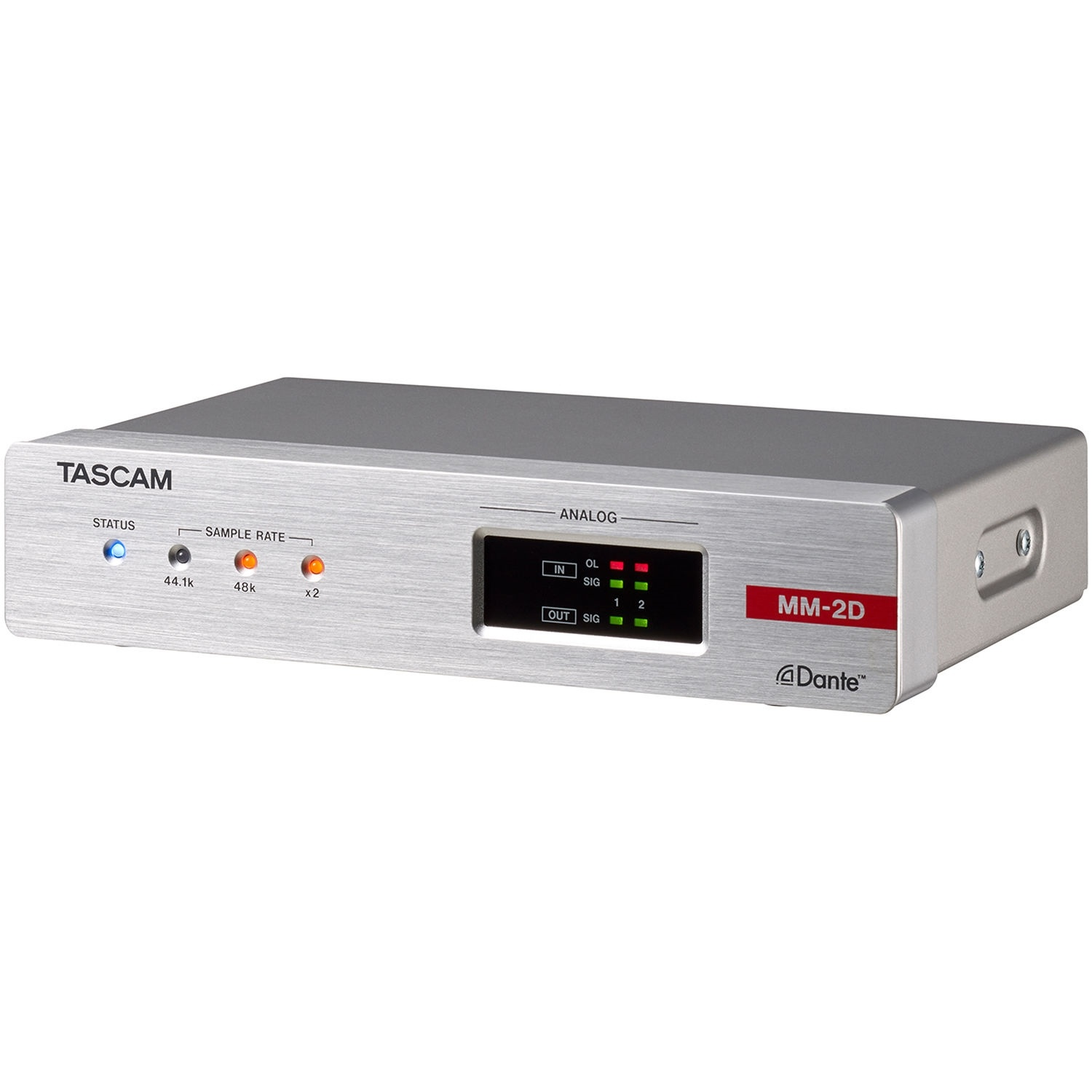 Tascam MM-2D-X 2-Channel Mic/Line Input/Output Dante Converter with Built-In DSP Mixer