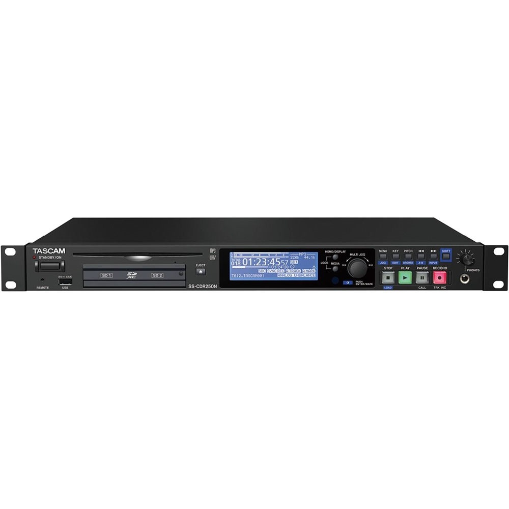 Tascam SS-CDR250N Two-Channel Networking CD and Media Recorder