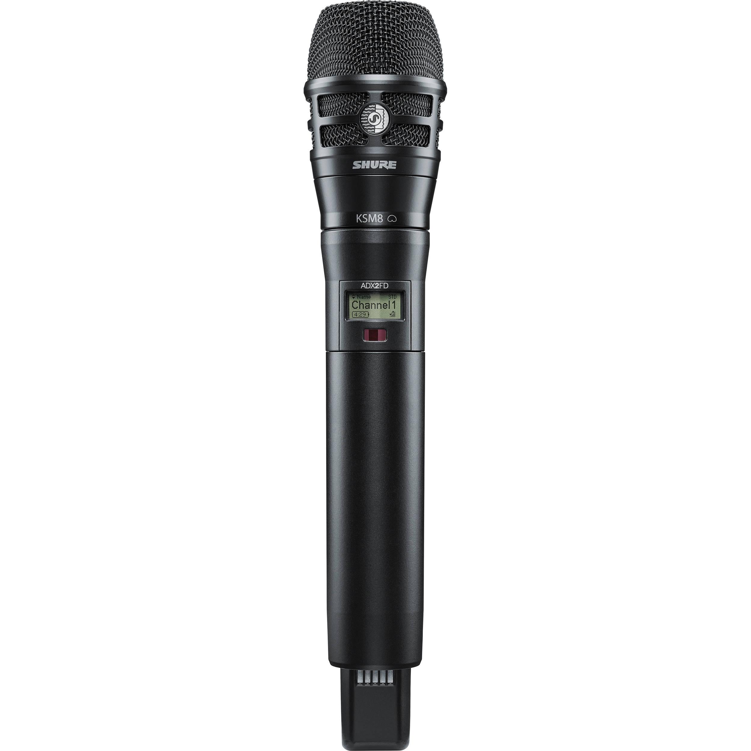 Shure ADX2FD/K8B Digital Handheld Wireless Microphone Transmitter with KSM8 Capsule