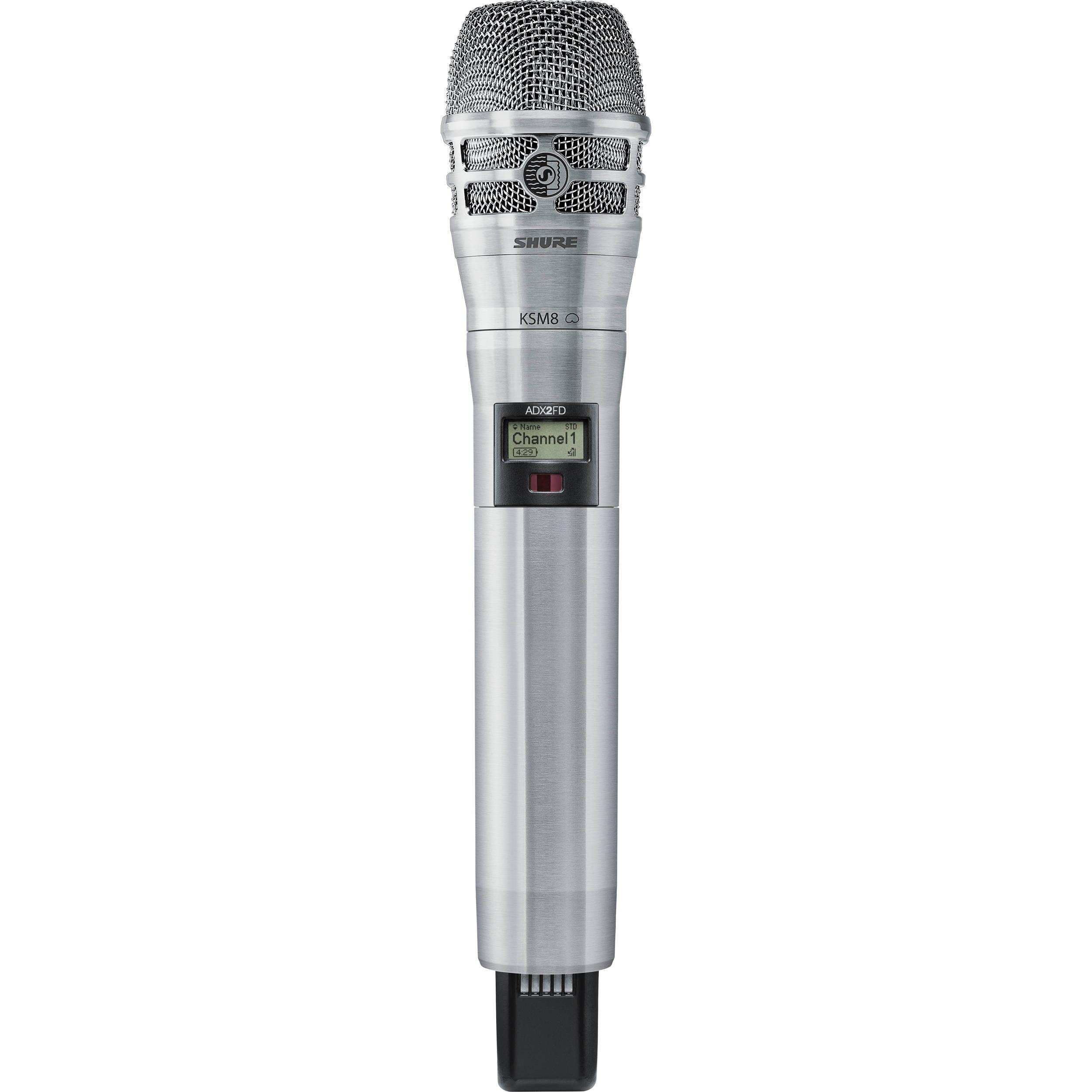 Shure ADX2FD/K8N Digital Handheld Wireless Microphone Transmitter with KSM8 Capsule