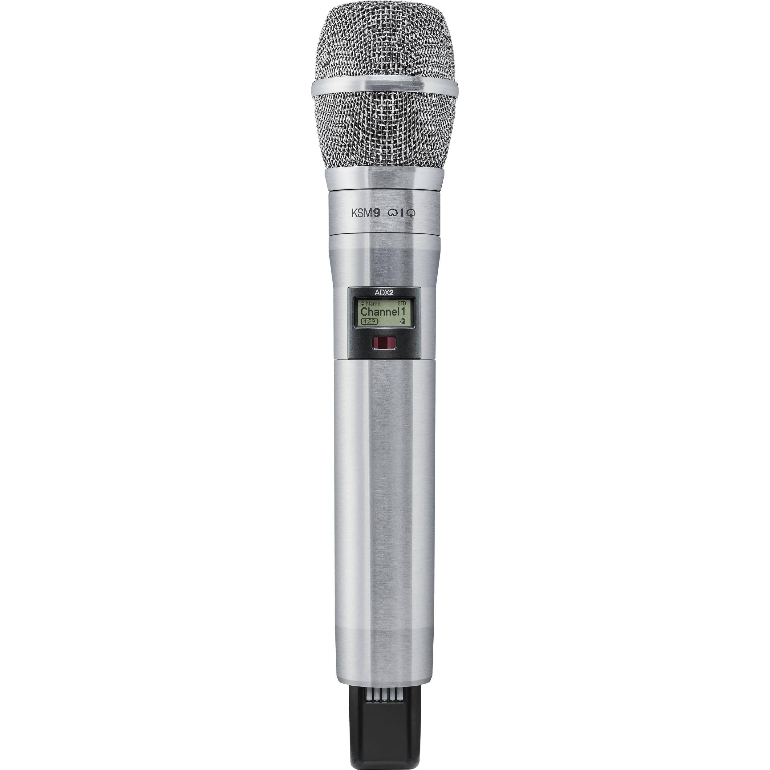 Shure ADX2/K9N Digital Handheld Wireless Microphone Transmitter with KSM9 Capsule