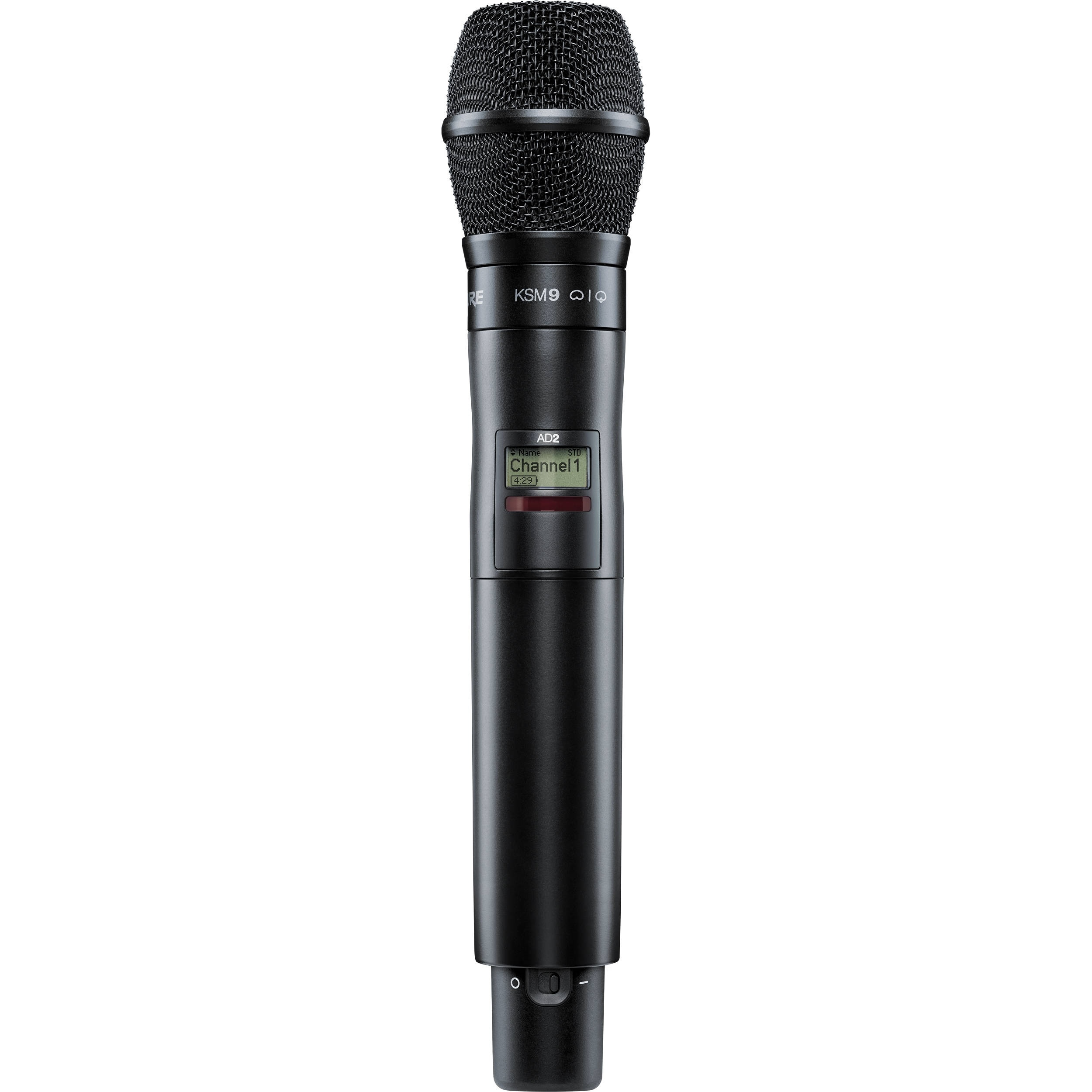 Shure AD2/KSM9B Digital Handheld Wireless Microphone Transmitter with KSM9 Capsule