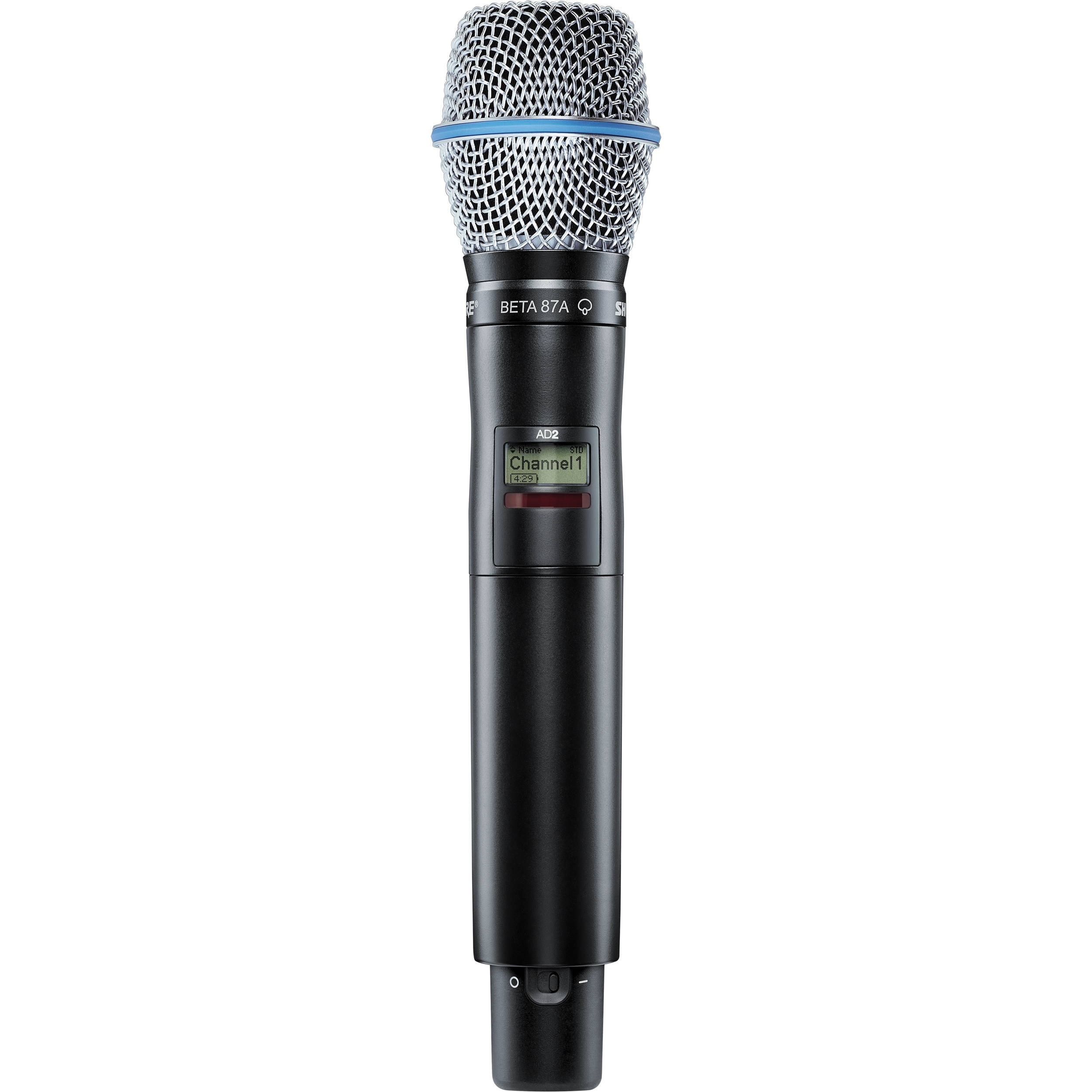Shure AD2/B87A Digital Handheld Wireless Microphone Transmitter with Beta 87A Capsule