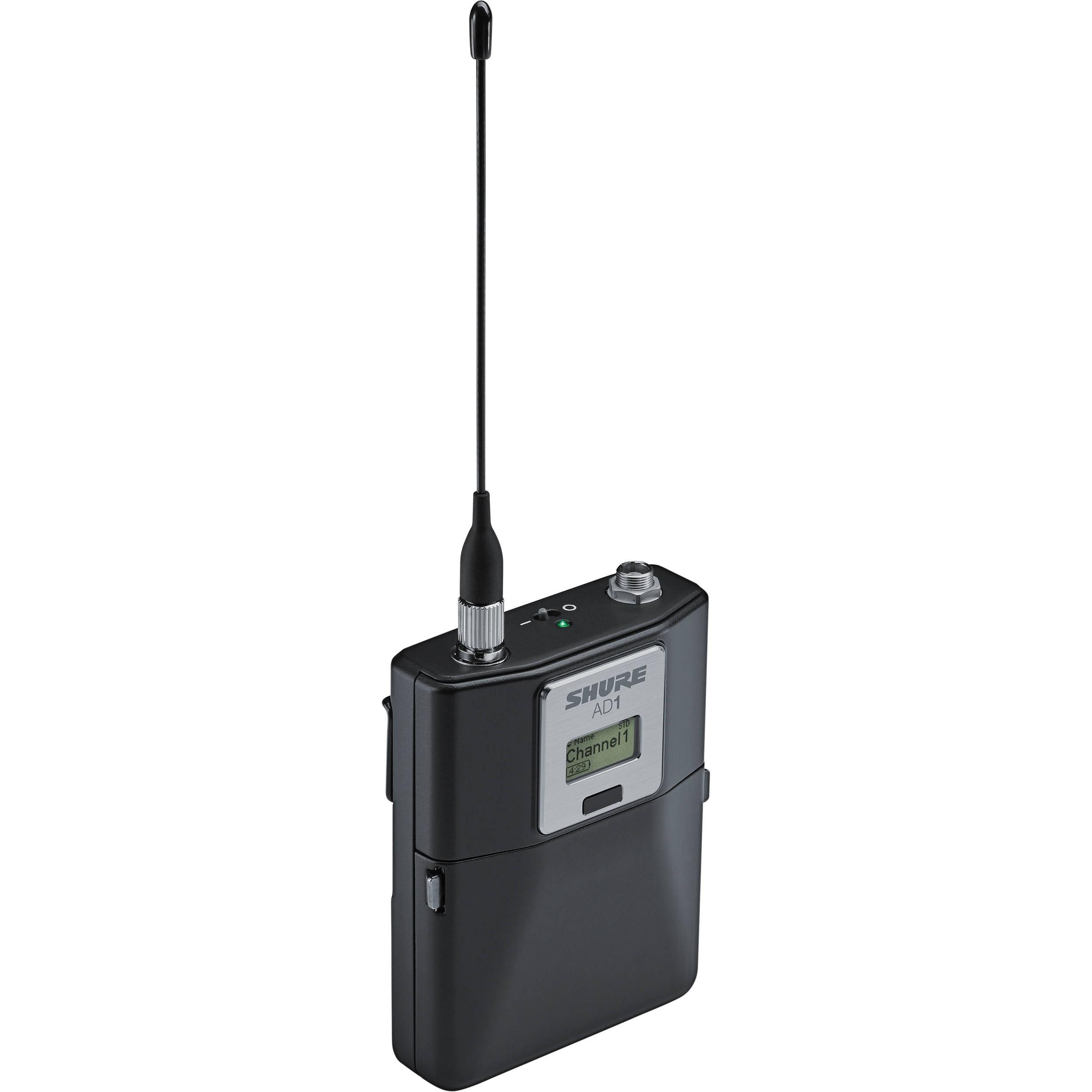 Shure AD1 Digital Wireless Bodypack Transmitter with LEMO3