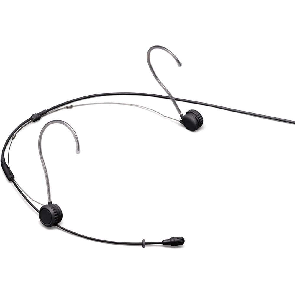 Shure TwinPlex TH53 Omnidirectional Headset Microphone (Pigtail, Black)