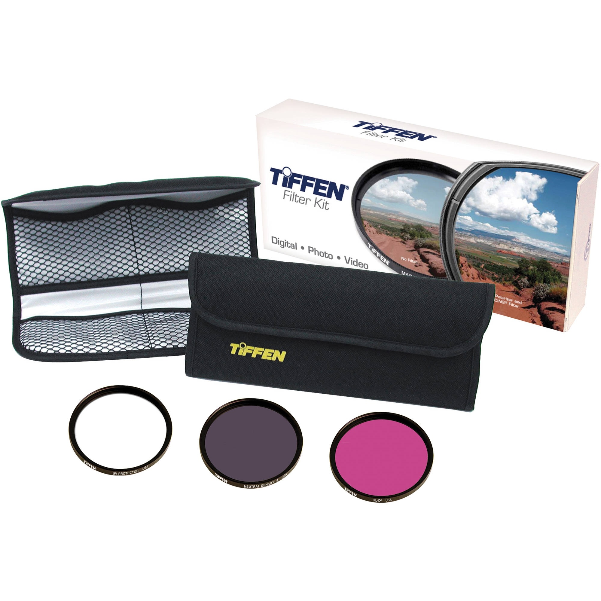 Tiffen Deluxe 3 Video Intro Filter Kit (62mm)