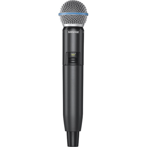 Shure GLXD2/B58 Digital Wireless Handheld Microphone Transmitter with Beta 58A Capsule (2.4 GHz)