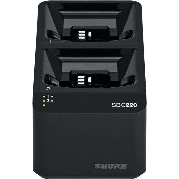Shure SBC220 Networked 2-Bay Battery Charger