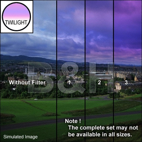 "Tiffen 4 x 4"" 1 Twilight Graduated Filter"