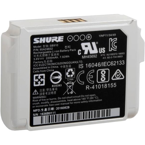 Shure SB910 Battery for ADX1 Transmitter