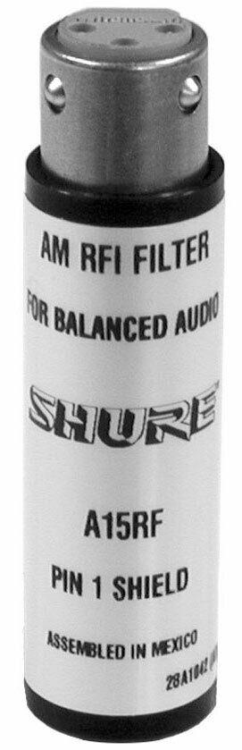 Shure A15RF In-Line 3-Pin XLR Radio Frequency Attenuator
