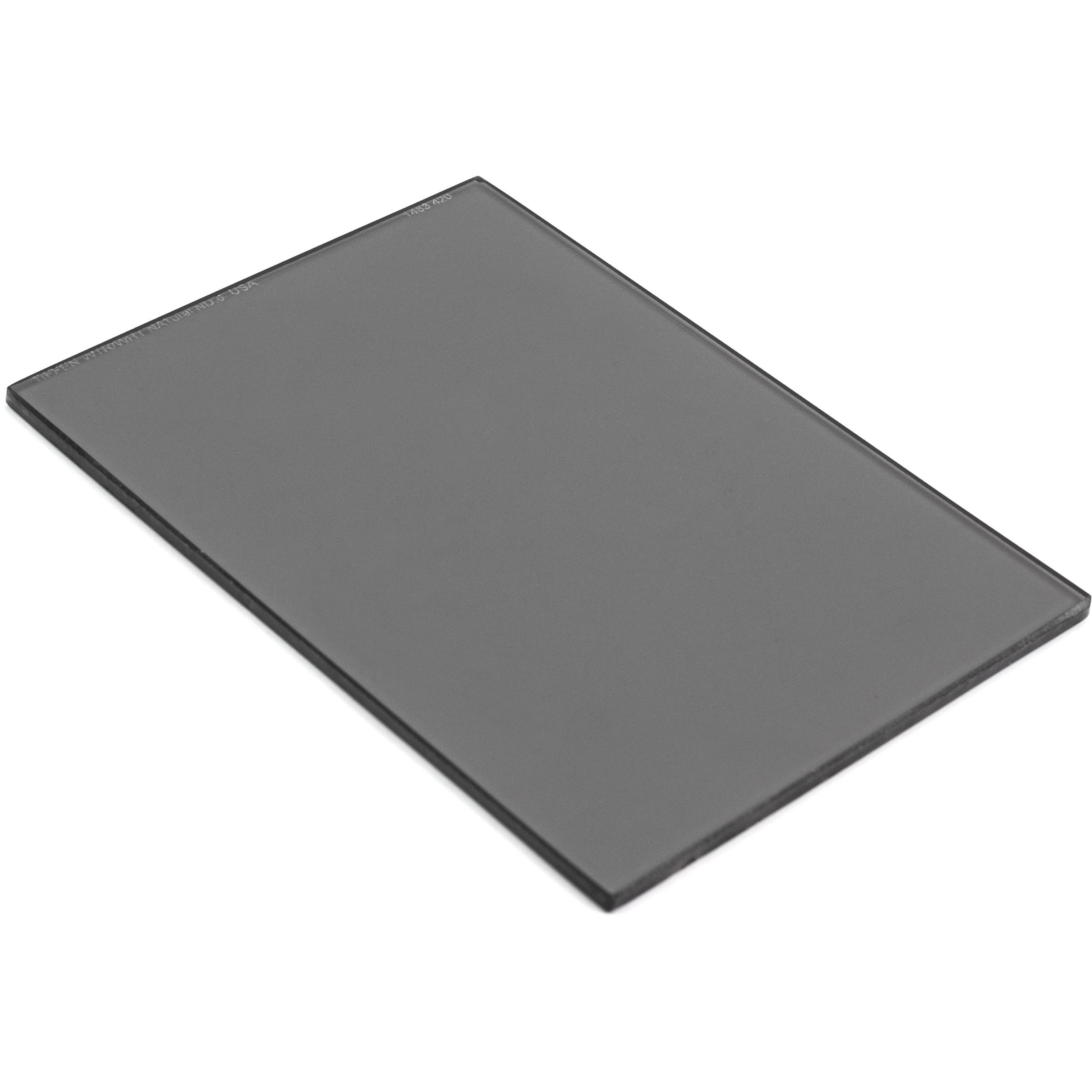 """Tiffen 4 x 5.65"""" Water White Glass NATural IRND 0.6 Filter (2-Stop)"""
