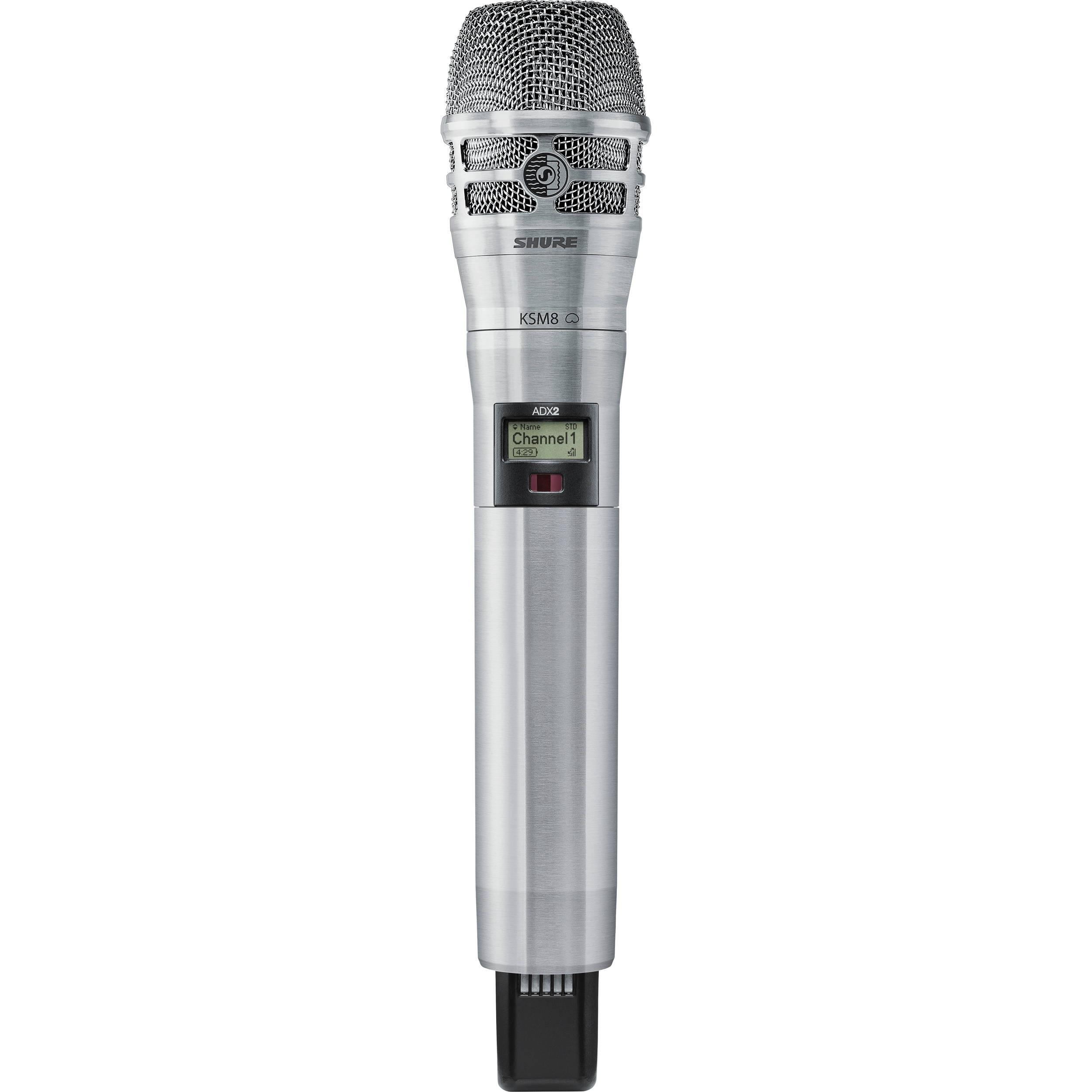 Shure ADX2/K8N Digital Handheld Wireless Microphone Transmitter with KSM8 Capsule