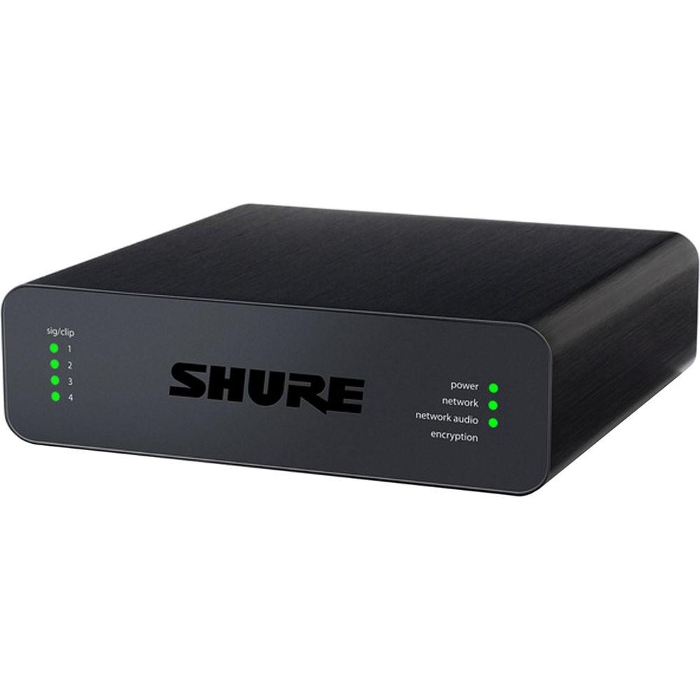 Shure Microflex Advance 4-Channel Dante Mic/Line Audio Network Interface Unit (Block Inputs)