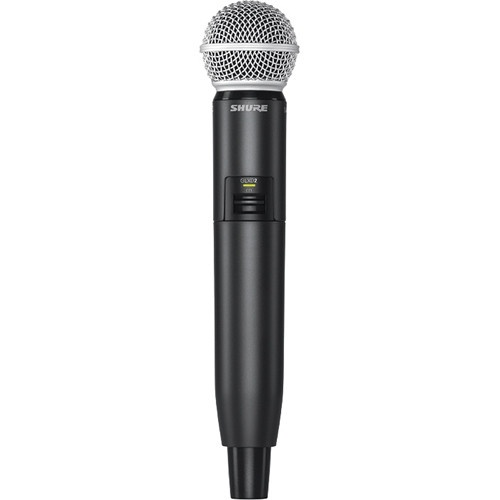 Shure GLXD2/SM58 Digital Wireless Handheld Microphone Transmitter with SM58 Capsule (2.4 GHz)
