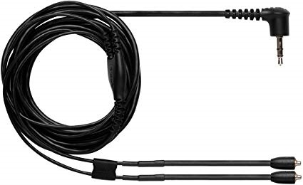 """Shure EAC46CLS Earphone Cable with Nickel-Plated MMCX Connectors (Black, 46"""")"""