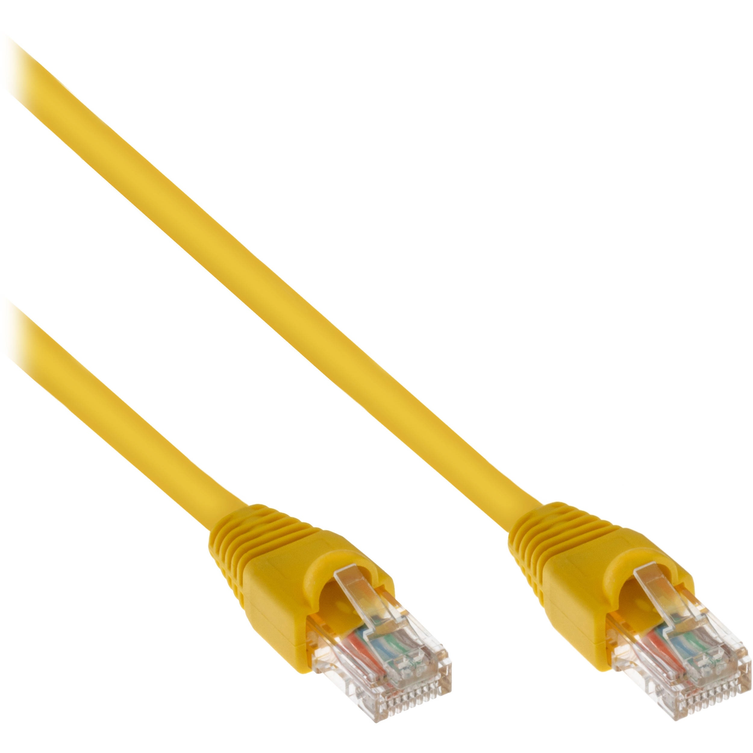 Pearstone Cat 5e Snagless Patch Cable (1', Yellow)