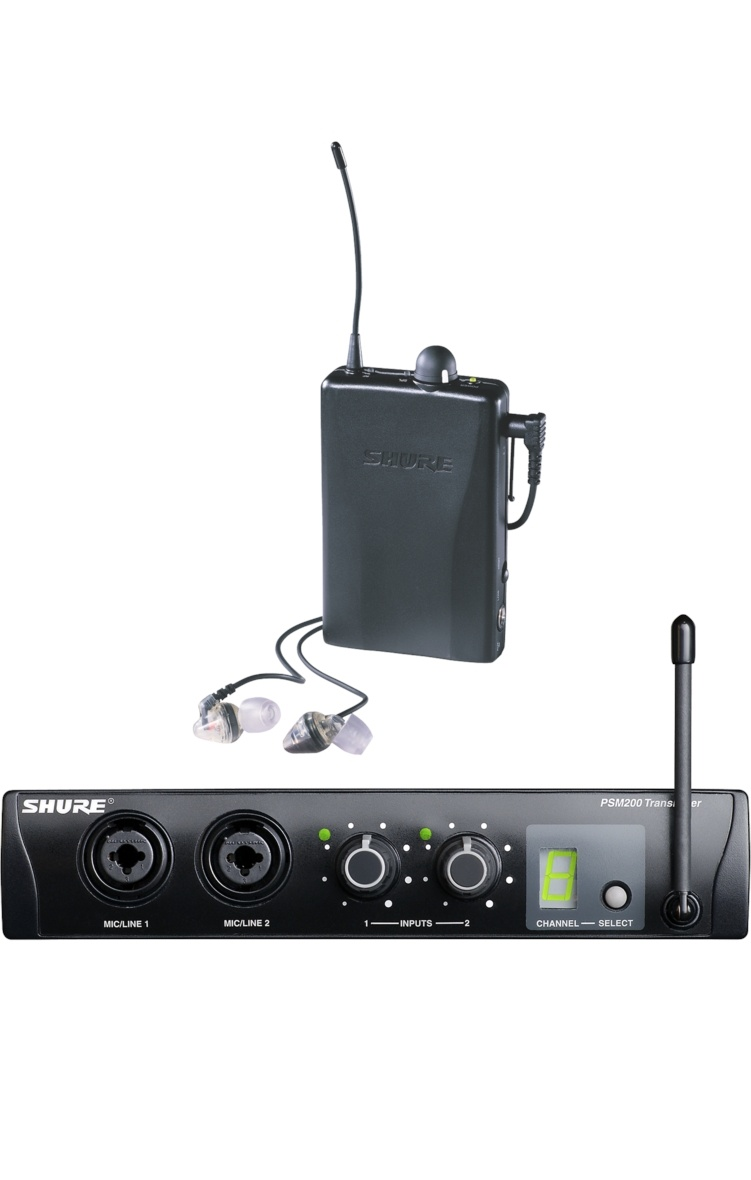 Shure P2TR112GR Receiver, Transmitter and Earphones Set