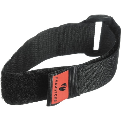 "Pearstone 1 x 18"" Touch Fastener Cinch Strap (Black, 2-Pack)"