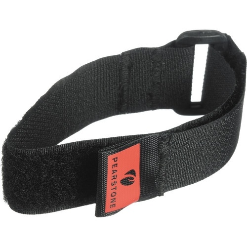 """Pearstone 1 x 12"""" Touch Fastener Cinch Strap (Black, 2-Pack)"""
