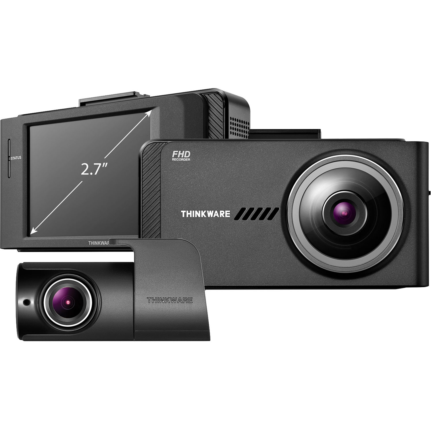 Thinkware X700 1080p Dash Cam with Rear-View Camera & External GPS Receiver Bundle