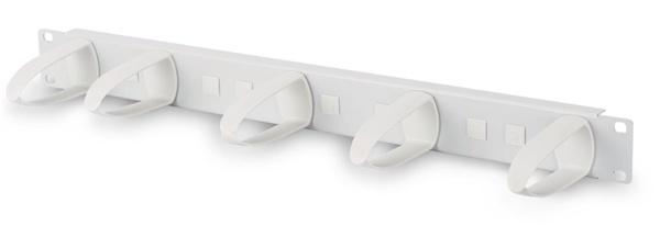 "Cable Management Bar 19"" - Grey Plastic 1RU"