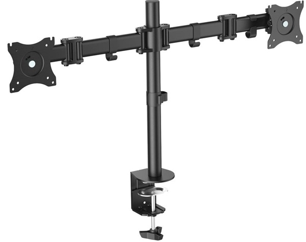 """Digitus DA-90349 15-27"""" Dual Monitor Stand with Clamp Base"""