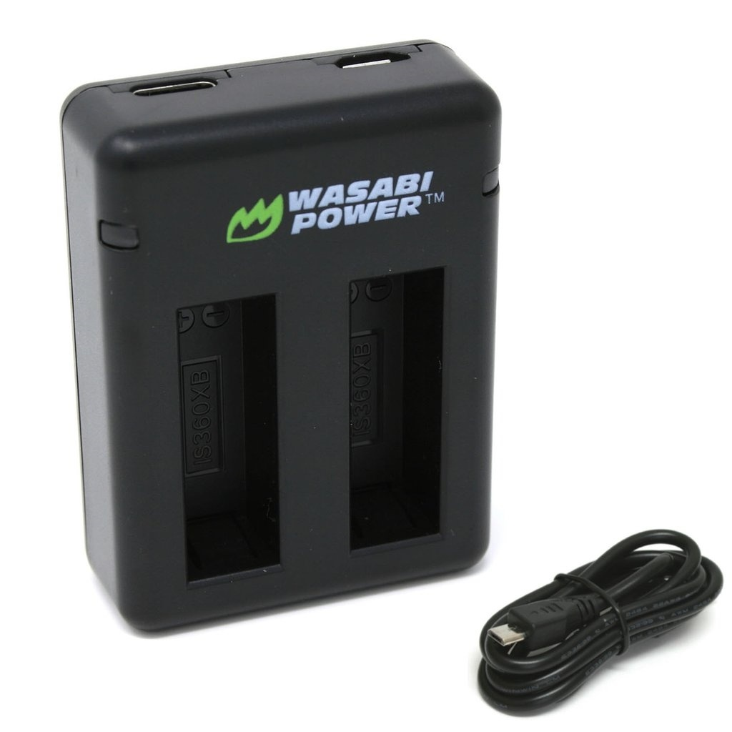 Wasabi Power Dual USB Battery Charger For Insta360 One X