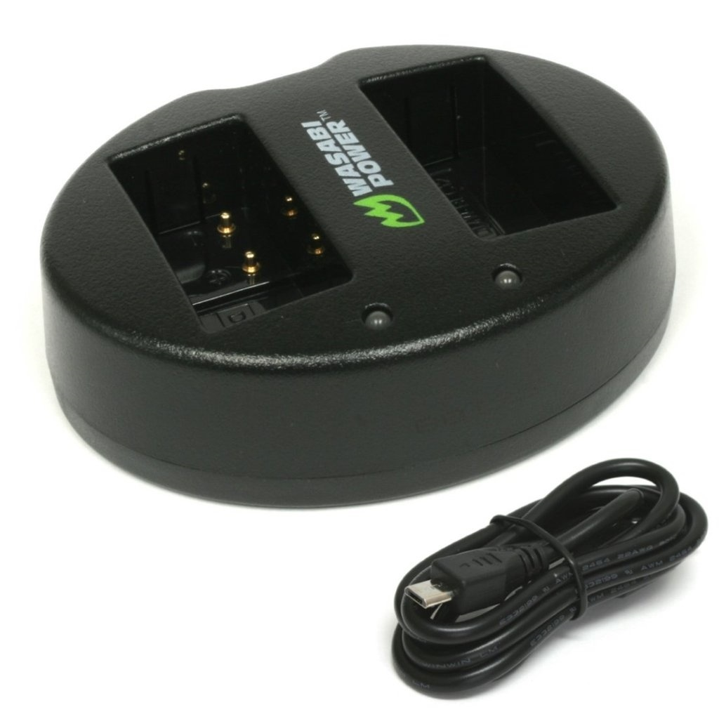 Wasabi Power Dual USB Battery Charger For Panasonic DMW-BLC12