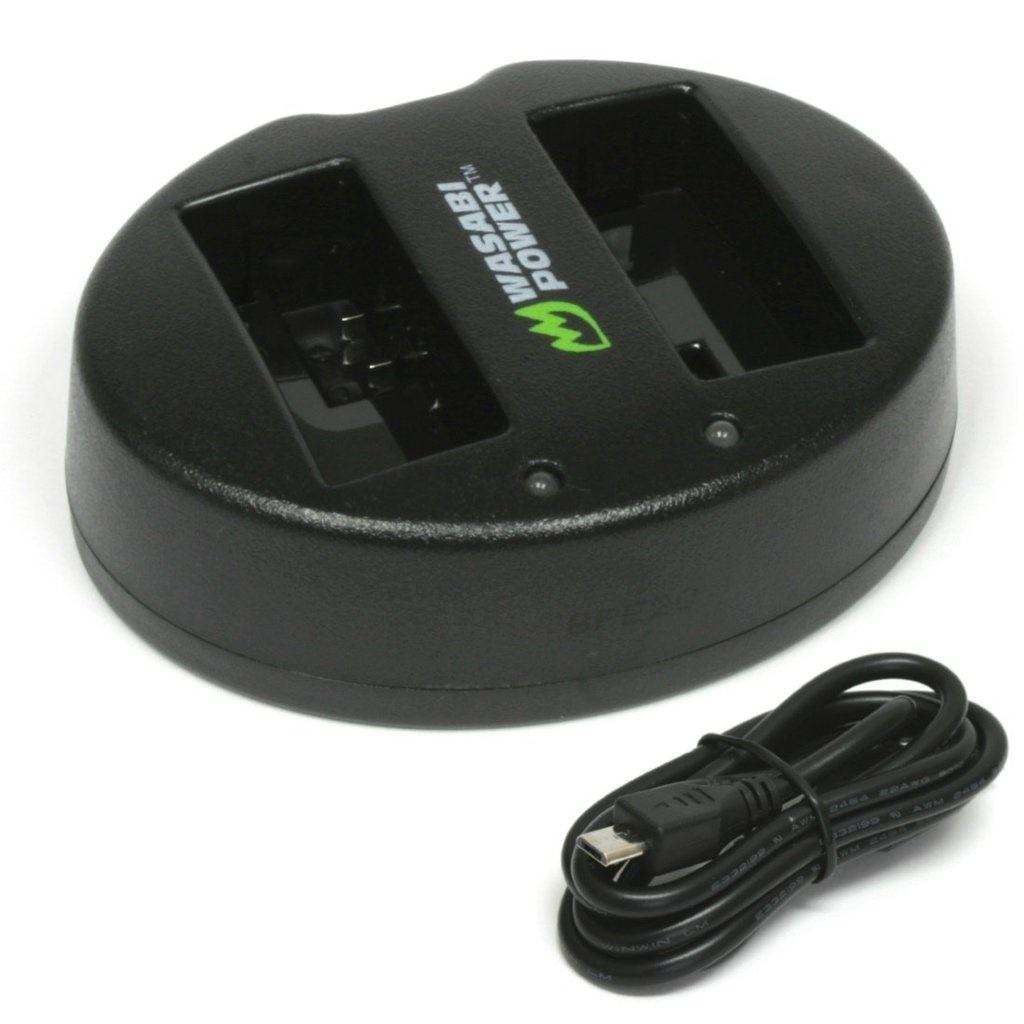 Wasabi Power Dual USB Battery Charger For Canon LP-E8, LC-E8, LC-E8E, LC-E8C