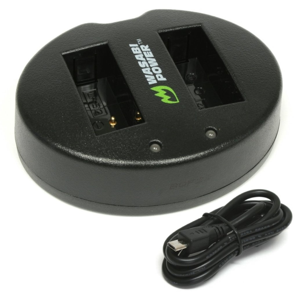 Wasabi Power Dual USB Battery Charger For Canon LP-E12