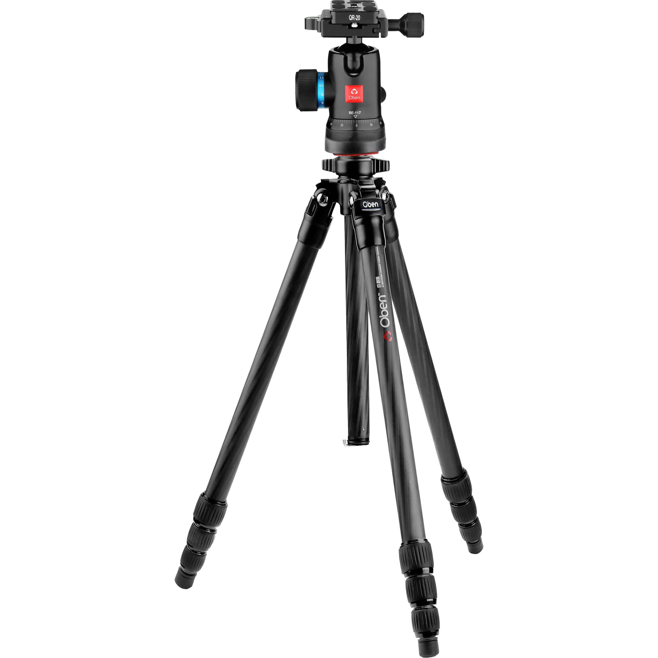Oben CT-2431 Carbon Fiber Tripod and BE-117 Ball Head Kit