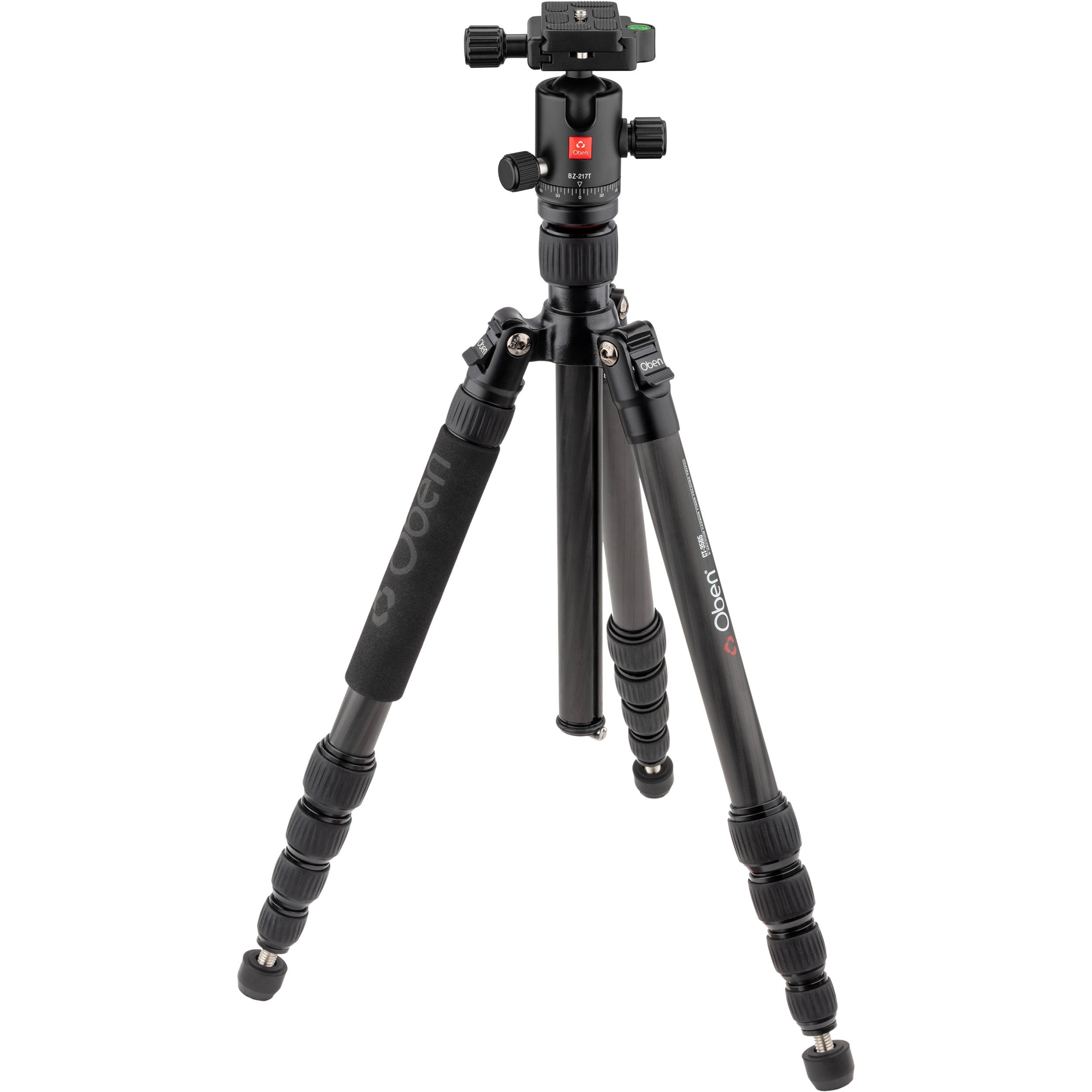 Oben CT-3565 Carbon Fiber Tripod and BZ-217T Triple-Action Ball Head