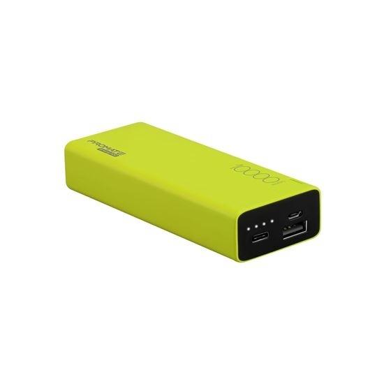 PROMATE 10000mAh USB-C Ultra-Sleek Portable Power Bank (Green)