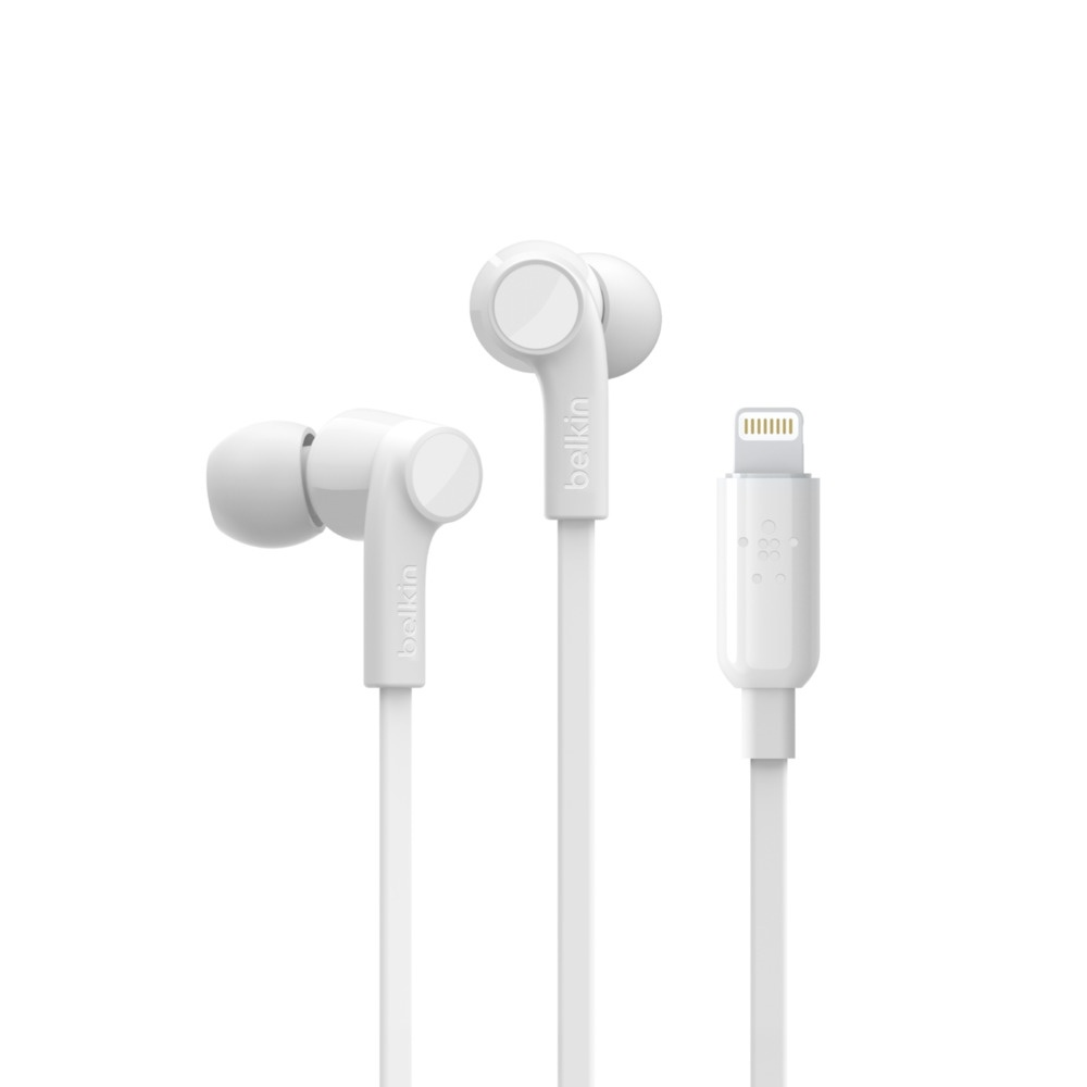 Belkin ROCKSTAR Headphones with Lightning Connector (White, 1.1m Cable)