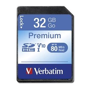 Verbatim Premium SDHC Class 10 Card 32GB